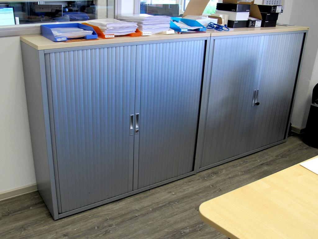 Querrollladen Büroschrank Aktenschrank Stahl große Stückzahl TOP ...