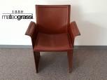 Korium KM1 Sessel von Matteo Grassi, eine Rarität aus Sattelleder, inkl. Kissen!
