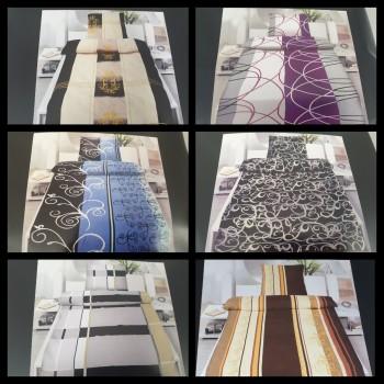 Microfaser 2 tlg. Bettwäsche Set 135 x 200 Garnitur mit Reißverschluss