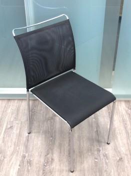 Dietiker Stuhl Satu, ohne Armlehne, leicht, stapelbar, Stahl, Metall