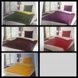 Microfaser 2tlg. Bettwäsche Set 135 x 200 Kuschel zweifarbig Garnitur mit Reißverschluss