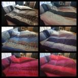 6-tlg. Bettwäsche Set Fleece Garnitur mit Reißverschluss